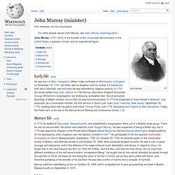 John Murray (minister)