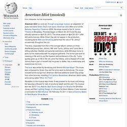 American Idiot (musical)