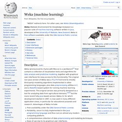 Weka (machine learning)