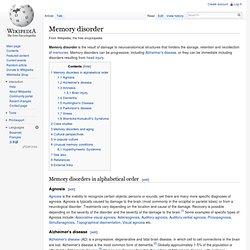 Memory disorder