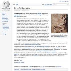Ex pede Herculem
