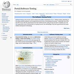 Portal:Software Testing