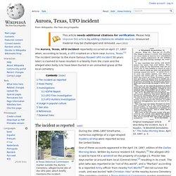 Aurora, Texas, UFO incident