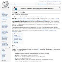 SMART criteria
