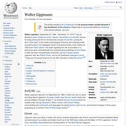 Walter Lippmann, wikipedia