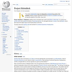 Project Habakkuk