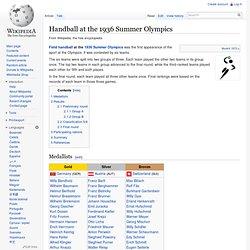 Handball at the 1936 Summer Olympics