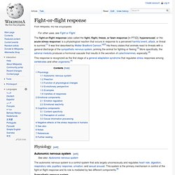 Fight-or-flight response