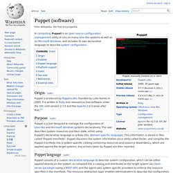 Puppet (software)