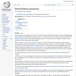 David Holmes (musician)
