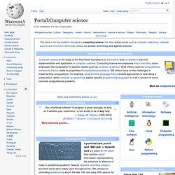 Portal:Computer science