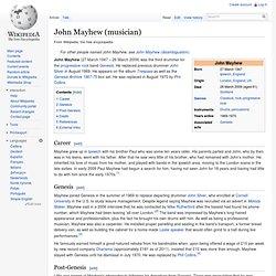 John Mayhew (musician)