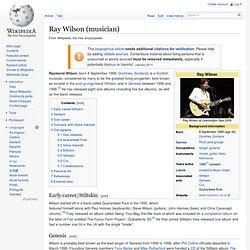 Ray Wilson (musician)