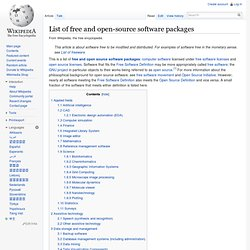 List of open-source software packages - Wikipedia, the free ency