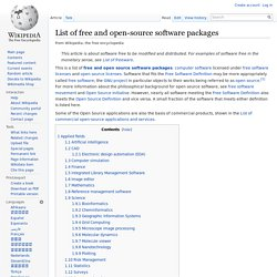 List of free and open source software packages