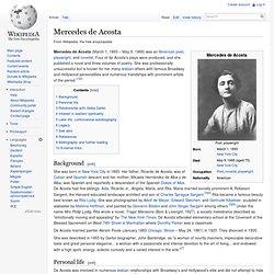 Mercedes de Acosta 梅塞德斯