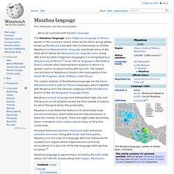 Mazahua language