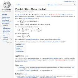 Prouhet–Thue–Morse constant