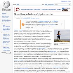 Effects of physical exercise on memory