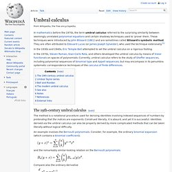 Umbral calculus
