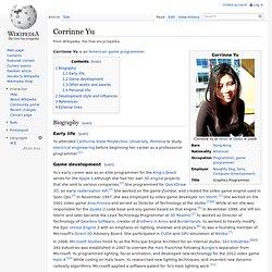 CORINNE YU - Game Programmer