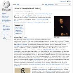 John Wilson (Scottish writer)