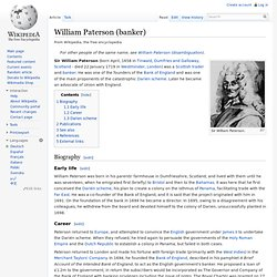 William Paterson (banker)