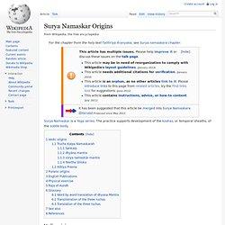 Surya Namaskar Origins