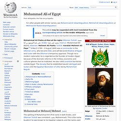 Muhammad Ali of Egypt