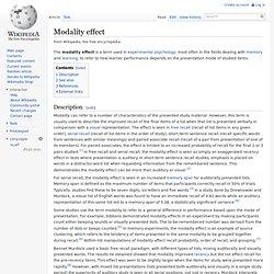 Modality effect