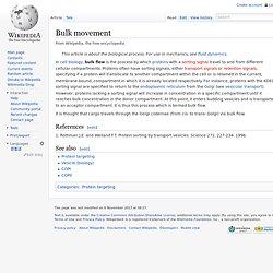 Bulk movement