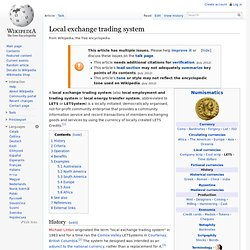 Local exchange trading system adelaide