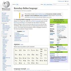 Karachay-Balkar language