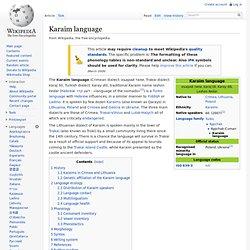 Karaim language