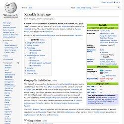 Kazakh language
