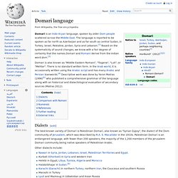 Domari language