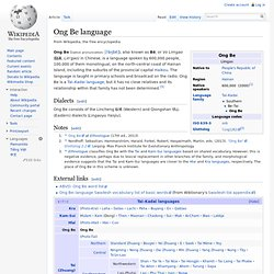 Ong Be language