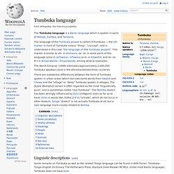 Tumbuka language