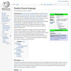 Tundra Nenets language