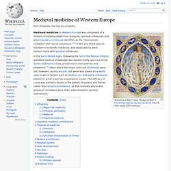 Medieval medicine of Western Europe