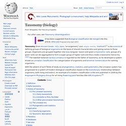 Taxonomy (biology)