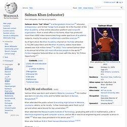 Salman Khan (educator)