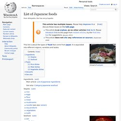 List of Japanese foods