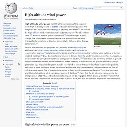 High-altitude wind power