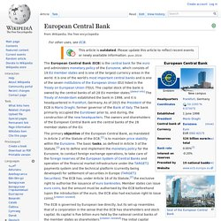 European Central Bank -mandate-