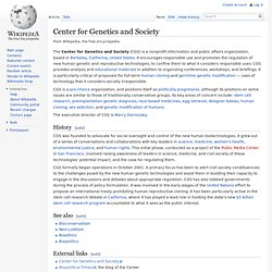 Center for Genetics and Society