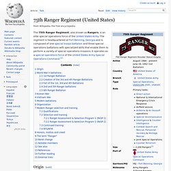 75th Ranger Regiment (United States)