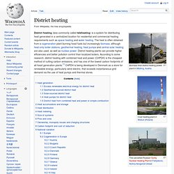 District heating - Europe