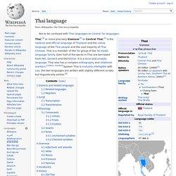 Thai language
