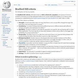 Bradford Hill criteria
